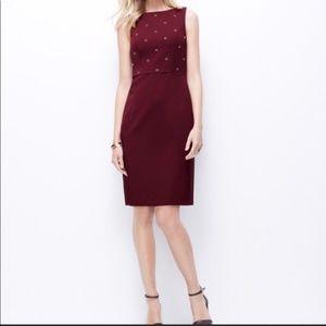 Maroon Ann Taylor dress